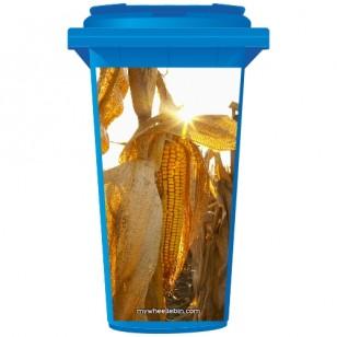 Corn In A Field  Wheelie Bin Sticker Panel