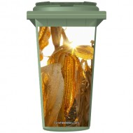 Corn In A Field  Wheelie Bin Sticker Panel