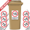 15 mph Please Drive Carefully Speed Reduction Wheelie Bin Stickers
