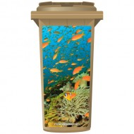 Tropical View Under The Sea Wheelie Bin Sticker Panel