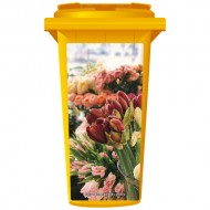 An Assortment of Flowers Wheelie Bin Sticker Panel