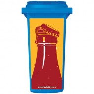 Artistic Soda Bottle Print Wheelie Bin Sticker Panel