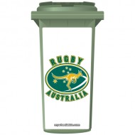 Australian Rugby Wallaby Wheelie Bin Sticker Panel