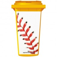 Baseball Stitching Wheelie Bin Sticker Panel