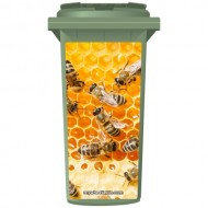 Bees In Honey Wheelie Bin Sticker Panel