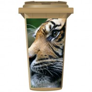 Big Cat Tigers Face Wheelie Bin Sticker Panel