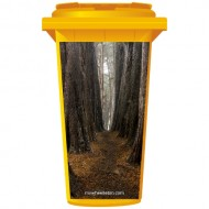 Big Trees In The Woods Wheelie Bin Sticker Panel