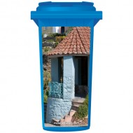 Blue Spanish Entrance Wheelie Bin Sticker Panel