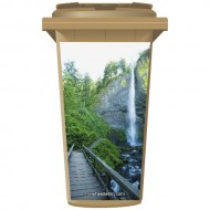 Bridge To A Waterfall Wheelie Bin Sticker Panel