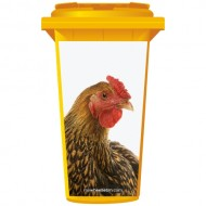 Chicken Wheelie Bin Sticker Panel