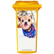 Chihuahua In The Snow Wheelie Bin Sticker Panel