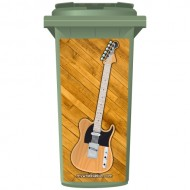 Classic Style Electric Guitar Wheelie Bin Sticker Panel