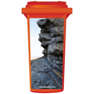 Cliff Face At The Beach Wheelie Bin Sticker Panel
