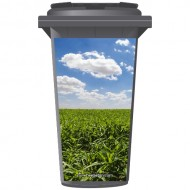 Clouds Of A Corn Field Wheelie Bin Sticker Panel