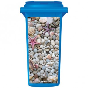 Collection Of Shells & Pebbles Wheelie Bin Sticker Panel