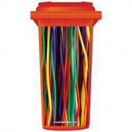 Coloured Wires Wheelie Bin Sticker Panel