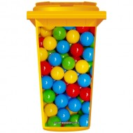 Colourful Ball Pit Wheelie Bin Sticker Panel