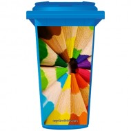Colouring Pencils Wheelie Bin Sticker Panel