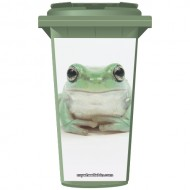 Cool Frog Wheelie Bin Sticker Panel