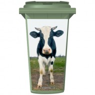 Cow In A Field Wheelie Bin Sticker Panel
