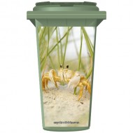 Crab On The Beach Wheelie Bin Sticker Panel