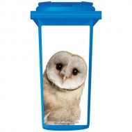 Cute Barn Owl Wheelie Bin Sticker Panel