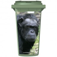 Cute Chimpanzee Wheelie Bin Sticker Panel