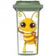 Cute Miss Bee Wheelie Bin Sticker Panel
