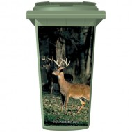Deer's In A Field Wheelie Bin Sticker Panel