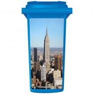 Empire State Building Wheelie Bin Sticker Panel