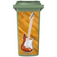 Fender Style Electric Guitar Wheelie Bin Sticker Panel