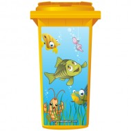 Fish And The Worm Wheelie Bin Sticker Panel