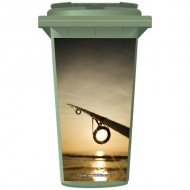 Fishing Rod In The Sunset Wheelie Bin Sticker Panel