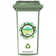 For A Green City Recycle Wheelie Bin Sticker Panel