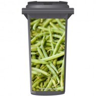 Fresh Fine Green Beans Wheelie Bin Sticker Panel