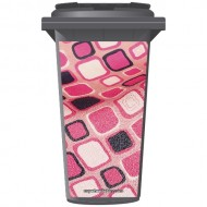 Funky Pink Pattern Wheelie Bin Sticker Panel