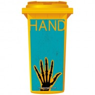 Funky Retro Skeletons Hand Wheelie Bin Sticker Panel