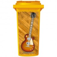 Gibson Style Electric Guitar Wheelie Bin Sticker Panel