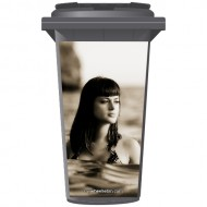Girl In The Sea Wheelie Bin Sticker Panel