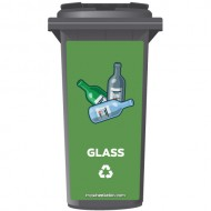 Glass Recycling Wheelie Bin Sticker Panel
