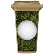 Golf Ball In Long Grass Wheelie Bin Sticker Panel