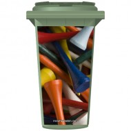 Golf Tees Wheelie Bin Sticker Panel
