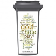 Golfing In Words Wheelie Bin Sticker Panel