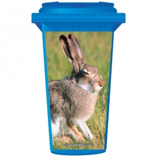 Grumpy Bunny Rabbit Wheelie Bin Sticker Panel