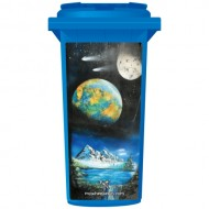 Brett Day Space Mountains Wheelie Bin Sticker Panel