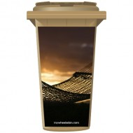 Hammock At Sunset Wheelie Bin Sticker Panel