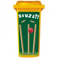 Howzat Cricket Stumps Wheelie Bin Sticker Panel