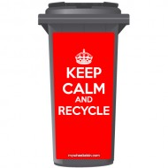 Keep Calm And Recycle Crown Wheelie Bin Sticker Panel