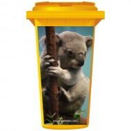 Koala bear On A Branch Wheelie Bin Sticker Panel