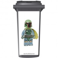 Lego Bobba Fett Wheelie Bin Sticker Panel